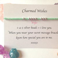 Wife bracelet | I love you jewellery | Gift for wife | Wife gift | 143 jewellery | Presents for Wife | Personalised Wife gifts | Secret love