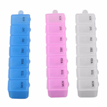 New Mini Portable Empty Braille 6 Cells Pill Medicine Drug Storage Case Box DH