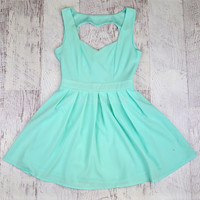 Queen of Hearts Mint Cut Out Dress