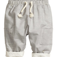 Lined Cotton Pants - from H&M