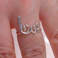 Sterling Silver Love Ring by mariakopadis on Etsy