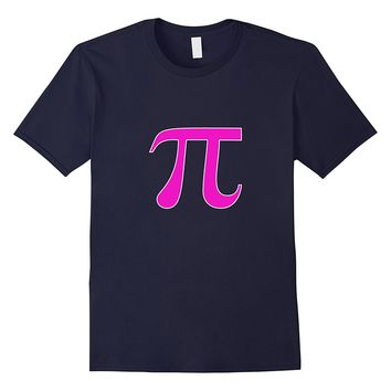 Cute Pink Pi T-Shirt Math Symbol Math Major Teacher Tee
