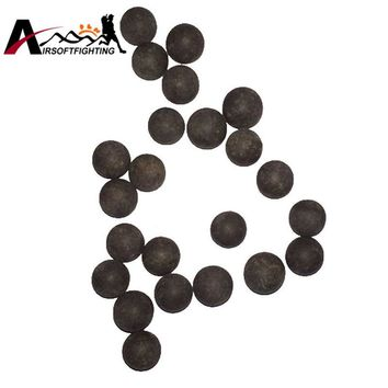 100PCS 10mm Slingshot Beads Bearing Mud Beads Slingshot Ammunition Ammo Solid Drawing-board Clay Mud Eggs for Airsoft Hunting