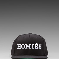 Brian Lichtenberg Homies Embroidered Caps in Black/White