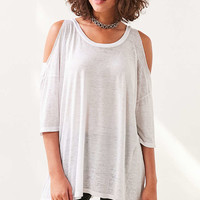 Pins And Needles Dropout Cold Shoulder Tee - Urban Outfitters