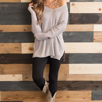 Fall Feeling Sweater (Dove)