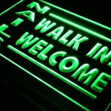 Nail Salon Walk Ins Welcome Neon Sign (LED)