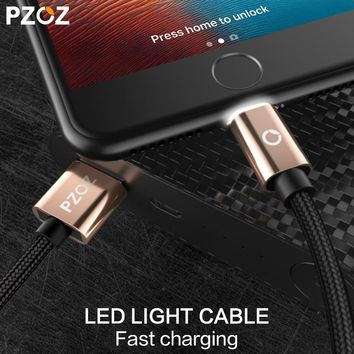PZOZ for Lighting Cable Fast Charger Adapter Mobile Phone 8 Pin LED USB Cable For iphone 6 S Plus X 7 5 iPad Air iPod Touch i6
