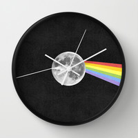 Dark Side of the Moon. Wall Clock by Nick Nelson | Society6