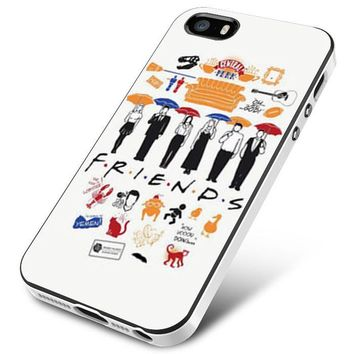 FRIENDS Collage Drawing iPhone 5   5S   5SE Case Planetscase.com