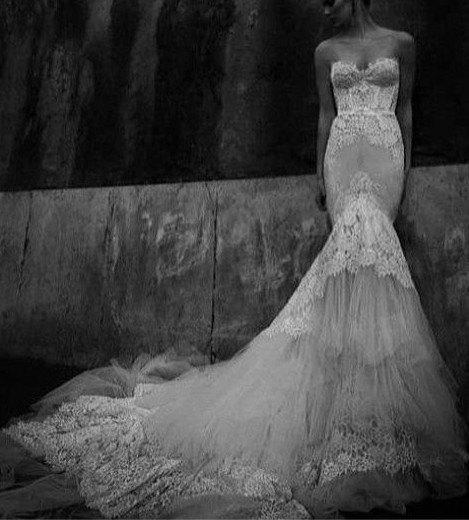 French Lace Mermaid Wedding Dress: Inspired Inbal Dror 2013 Sweetheart From MissBrides On Etsy