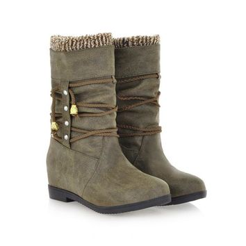 Botas Femininas Hidden Wedge Boots