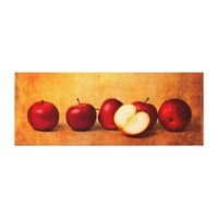 Apples In Red Panorama Canvas Prints