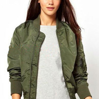 Army Green Biker Jacket