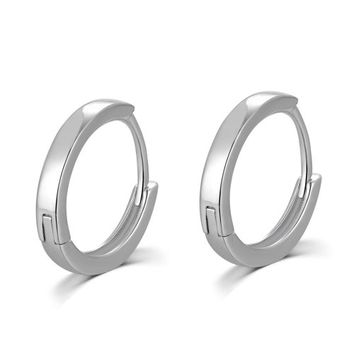 Sterling Silver Polished Finish Unisex Huggie Mini Hoop Earrings (15 mm diameter), Girlfriend Small Gift: 亚马逊中国: MBLife Canada - Personalize Your Surprise