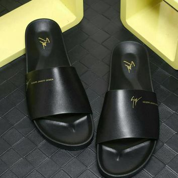Giuseppe Zanotti Men's Leisure Shoes, Slippers, Fashion Leisure Leather