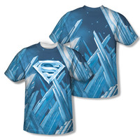 Superman Fortress Of Solitude Sublimation Mens T-Shirt