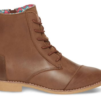 TOMS Alpa Leather Boots Women Brown