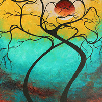 Abstract Artwork Contemporary Original Landscape Painting TWISTING LOVE III