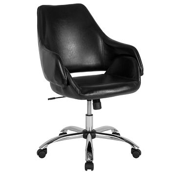 Madrid Home and Office Upholstered Mid-Back Chair with Open Back