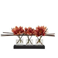 John-Richard Collection Triple Lotus Faux Floral