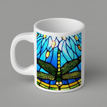 Gift Mugs | Holiday Black Friday Offer Tiffany Style Dragonfly Ceramic Coffee Mugs