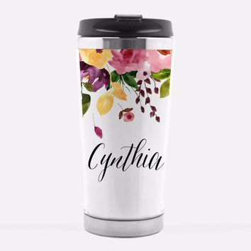 Custom Name Travel Mug