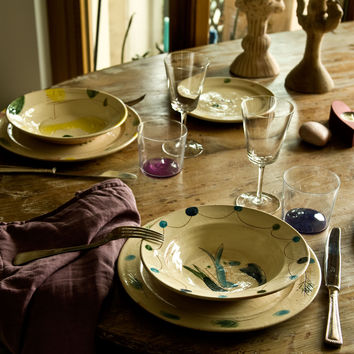 Venere e Marte - Engraved Ceramic Dinner Set