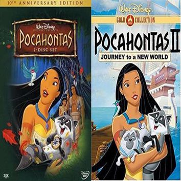 Pocahontas DVD 1 & 2 Includes Both Movies