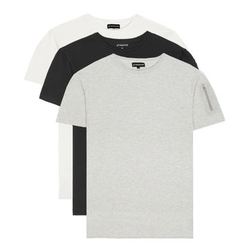 3 Pack Drop Shoulder Utility Tshirts