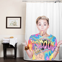 miley cyrus ice cream face custom shower curtain