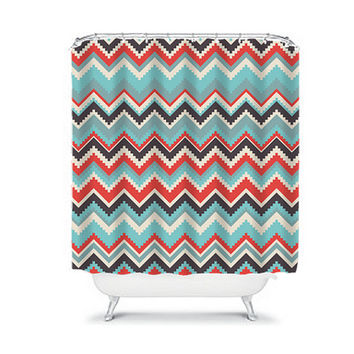 Stunning Red Chevron Shower Curtain Gallery - 3D house designs ...