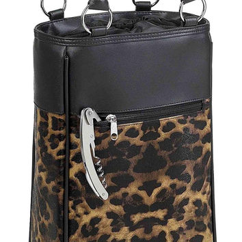 Primeware Harmony Animal Print Insulated Two Bottle Wine Purse