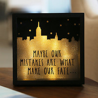 New York Maybe Mistakes Light Box - BoxLunch Exclusive