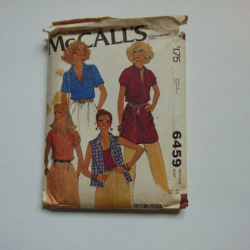 McCall's 6459 Sewing Pattern Misses Blouses Tunic Size 14 Bust 36