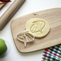 Robin Logo Cookie Cutter Batman Cookie Cutter Cupcake topper Fondant Gingerbread Cutters - Made from Eco Friendly Material