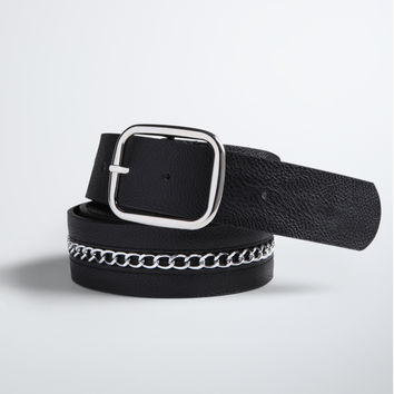 Chain Faux Leather Belt