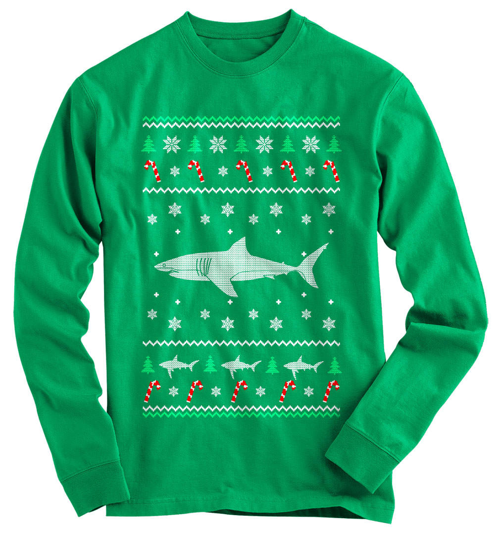 shark ugly christmas sweater - Shark Christmas Sweater