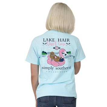 "Youth Simply Southern ""Lake Hair"" Short Sleeve Tee"