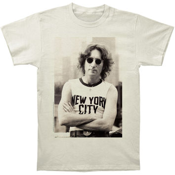 Beatles Men's  John Lennon NYC T-Shirt Slim Fit T-shirt Vintage