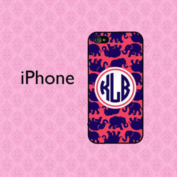 Monogram iPhone 5C Case , Personalized iPhone 4 Case , iPhone 5 Case ,  iPhone Case , Lilly Pulitzer Inspired iPhone 5S Case