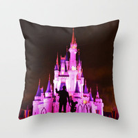 Cinderella's Castle Throw Pillow by Beach Bum Pics