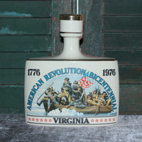 Early Times 1976 Virginia American Revolution Bicentennial liquor bottle decanter, collectible bottles, vintage bottles