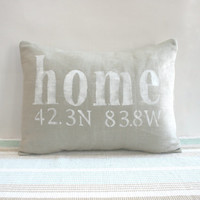 Home Pillow Coordinates Linen Housewarming Wedding
