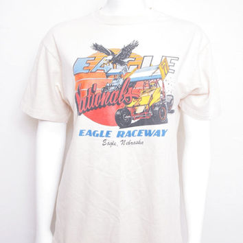 Eighties Eagles National Eagles Raceway Racing Tee Shirt from Eagle, Nebraska