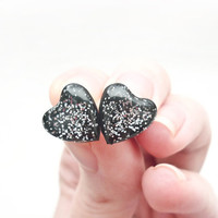 Silver heart stud earrings Tiny silver heart posts Valentines day gift for her minimal jewelry