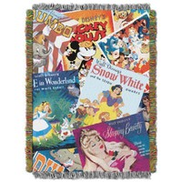 The Northwest Company Disney's Classics Vintage Collage Tapestry Throw, 48 by 60-Inch