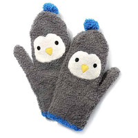 Penguin Shaped Animal Themed Soft Glove Mittens for Women