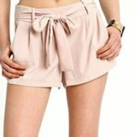 Sash Tie Cloth Shorts