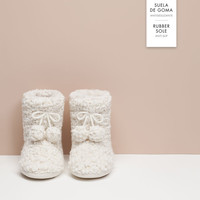 Fleece slipper boots - OYSHO